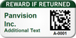 Custom 2D Reward If Returned Barcoded Asset Tag