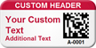 Customized 2D Barcode Asset Tag