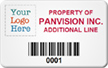 SunGuard Asset Label, Add Company Name with Barcode