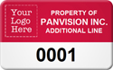 Asset Label, Property of Company Name with Numbering