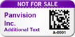 Custom 2D Not For Sale Barcode Asset Tag