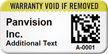 Custom 2D Warranty Void Barcode Asset Tag
