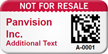 Custom 2D Not For Resale Barcode Asset Tag