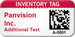 Custom 2D Inventory Tag Barcoded Asset Tag