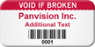 Custom Void If Broken Barcode Asset Tag