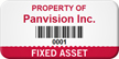 Custom Fixed Asset Tag