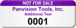 Personalized Not For Sale Asset Tag with Numbering