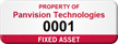 Personalized Fixed Asset Tag with Numbering