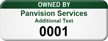 Customized Owned By Asset Tag with Numbering