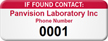 If Found Contact Personalized Asset Tag with Numbering