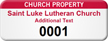 Customizable Church Property Asset Tag with Numbering