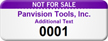 Custom Not For Sale Asset Tag with Numbering