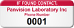 Customizable If Found Contact Asset Tag with Numbering