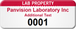 Personalized Lab Property Asset Tag with Numbering