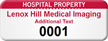 Customizable Hospital Property Asset Tag with Numbering