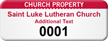 Custom Church Property Asset Tag with Numbering