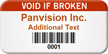 Barcoded Void If Broken Custom Asset Tag