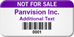 Not For Sale Personalized Asset Tag with Barcode
