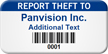 Report Theft To Customizable Asset Tag with Barcode