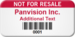 Not For Resale Custom Property of Asset Tag