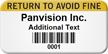 Return To Avoid Fine Custom Barcode Asset Label