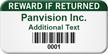 Barcoded Reward If Returned Custom Asset Tag