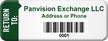 Custom Bar-coded Return To Asset Tag