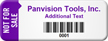 Customized Not For Sale Asset Tag with Barcode