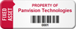 Customized Fixed Asset Tag with Barcode