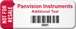 Customized Not For Resale Asset Tag with Barcode