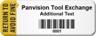 Customized Avoid Fine Asset Tag with Barcode