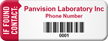 If Found Contact Customized Asset Tag with Barcode