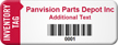 Customized Inventory Asset Tag with Barcode
