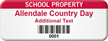 Customize School Property Asset Tag with Barcode