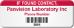If Found Contact Personalized Asset Tag with Barcode