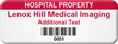 Personalized Hospital Property Asset Tag with Barcode