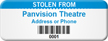 Custom Stolen From Asset Tag with Barcode