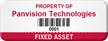 Custom Fixed Asset Tag with Barcode