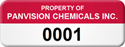 Asset Label, Company Name with Numbering