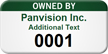 Owned By Custom Numbered Asset Tag