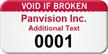 Custom Void If Broken Numbered Asset Tag