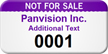 Custom Not For Sale Asset Tag Numbered