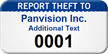Custom Report Theft Asset Tag Numbered