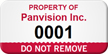 Customized Do Not Remove Asset Tag