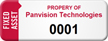 Customized Fixed Asset Tag with Numbering