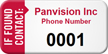 If Found Contact Custom Asset Tag with Numbering