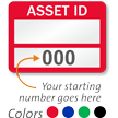 Asset ID - Prenumbered Labels (Pack of 100)