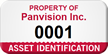 Custom Property Of Asset Identification Tag With Numbering