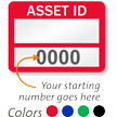 Asset ID - Prenumbered Labels (Pack of 1000)