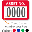 Asset Number - Prenumbered Labels (Pack of 1000)